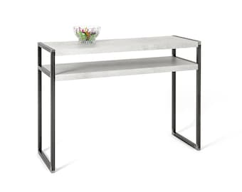 Console Table, Concrete and metal , Industrial Style