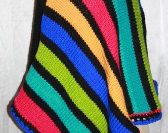 hot multicolor poncho size 38/42