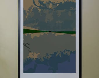 "Abstract Composition: Aspen_04_01b - Contemporary Art - Abstract Design - 26"" x 46"" and 13"" x 19"" - Limited Edition Print"