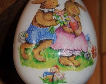 12cm, detachable plastic Easter egg