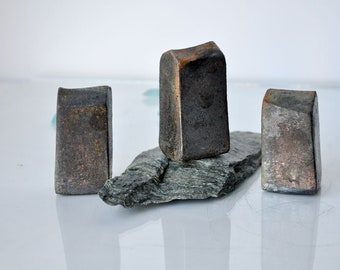 Set of 3 Coppermat Raku fired  Ceramic houses, Handmade Unique Ceramics  Architectural Home decor, raku pottery