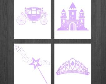 Princess Nursery - Princess Prints - Princess Art - Princess Decor - Princess Party - Girls Room - Nursery Decor - Baby Girl - Baby Shower