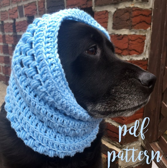 Dog Snood Pattern Textured Dog Scarf Pattern Dog Snood Pattern