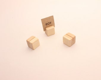 Set of 10 20 30 40 wooden card holders | Table number holder | Small card holders | Name tag holder | Wedding decor | Table card holders