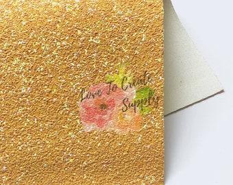 Mustard glitter fuax leather |fuax leather sheet