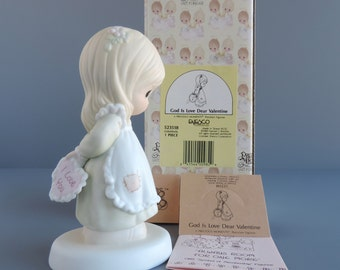 "Precious Moments ""God Is Love Dear Valentine"" Figurine 523518 