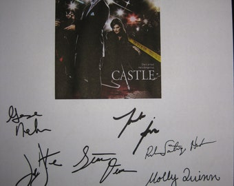 Castle Signed TV Script Screenplay X11 Autographs Nathan Fillion Stana Katic George Newburn Jayne Brook Jon Huertas Molly C. Quinn Sullivan