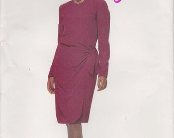 Dress Pattern With Wrap Uncut Size 18 - 22  Easy Butterick P520 Clearance