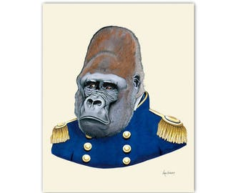 Gorilla - Safari Nursery - art print 5x7