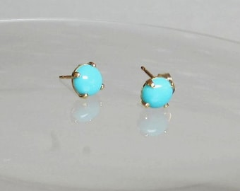 Sleeping Beauty Studs, Turquoise Earrings, Sleeping Beauty Earrings - Arizona Turquoise