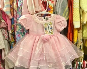 NOS Pink Sheer Dress 6/9 Months