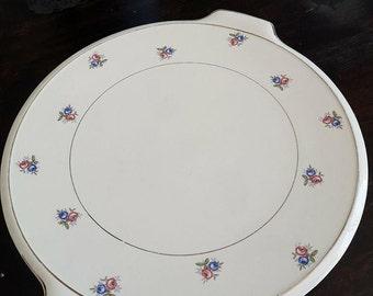 Platter tart Opaque Digoin Sarreguemines France