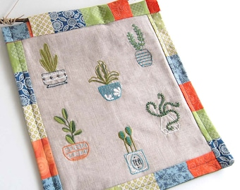 Embroidery Patterns Happy Houseplants embroidery designs in Mix and Match designs for modern hand embroidery projects and gifts