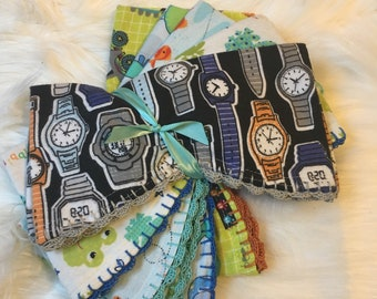 Burp cloths- 5 pc. set boy