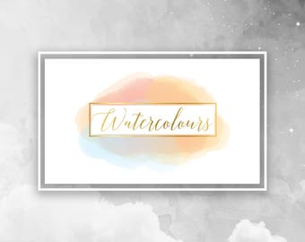 Premade Watercolour Logo - small business logo - custom logo - startup business - watercolour gold - bespoke branding and graphic design