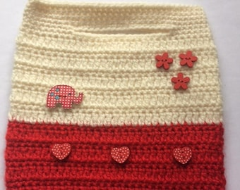 Sweet Hearts Crochet Handbag