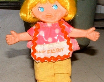 1969 RETRO Flatsy BABY Doll 1969  Vintage - 49 Years Old Fully Bendable - Great Condition