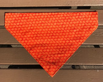 Orange Pumpkin Over-the-Collar Bandana