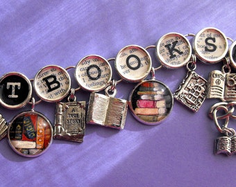 Got Books Book Charm Bracelet Literary Themed Bookish Jewelry