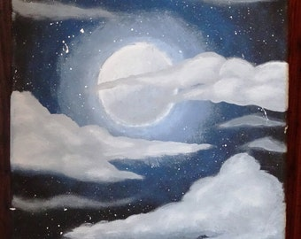 Cloudy Moonlit Sky