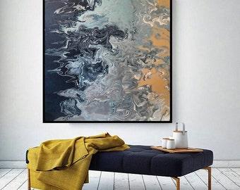 Dissolving Of Sand Into Sea -- Art Print 24x24