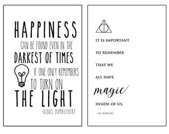 PRINTABLE - Harry Potter Print Duo 11x17 - Instant Download