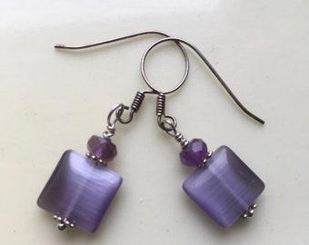 Amethyst Earrings, Lavender Earrings