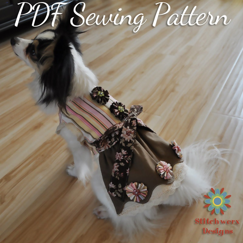 Small DOG DRESS PATTERN, Small Dog Clothes Sewing Pattern, Dog Dress ...