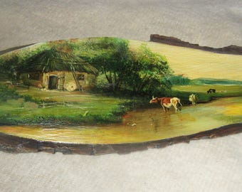 Pastoral oil painting