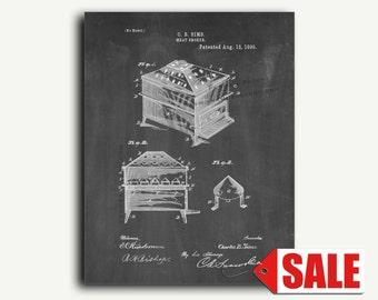 Patent Print - Meat Smoker Patent Wall Art Poster