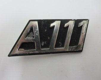 Vintage Autobianchi A111 Badge Emblem Logo Factory Original