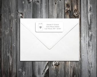 50 Mason Jar Wedding Address Labels. Personalized self stick label