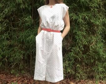 vintage polka dot summer dress 12 -14