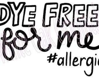 Allergy Alert Dye Free svg
