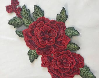 Patch red flower.
