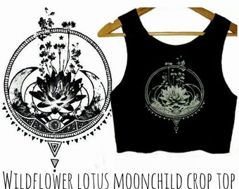 Wildflower Lotus Moonchild Crop Top