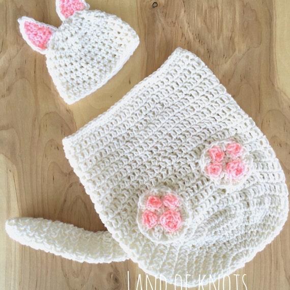 PATTERN, crochet cat swaddle pattern, cable crochet pattern, crochet ...