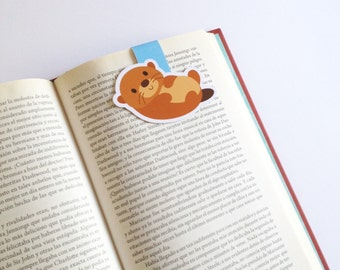 Otter Magnetic Bookmark - Cute Otter Bookmark - Double Sided