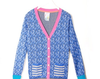 Royal Funfetti Cardigan
