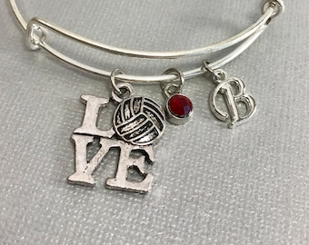 Volleyball Gift - Volleyball - Volleyball gift for girls - Stocking Stuffer - Charm Bracelet - Personalized Jewelry - Mothers Day  for Her