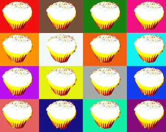 Pop Art - Cupcake Image