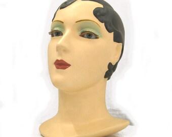 Brunette vintage mannequin head