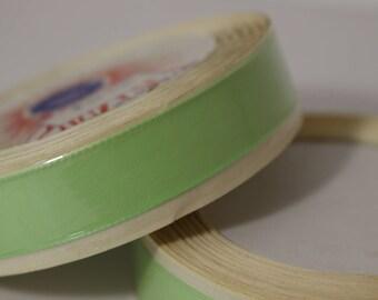 10 meters of Ribbon taffeta 15 mm wide light green in stock