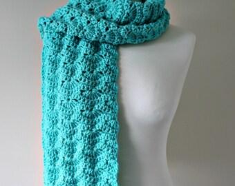 CROCHET PATTERN, Scarf Pattern, Crochet Scarf, Shell Scarf, Crochet Shell, Womens Scarf Pattern, Crochet, Womens Scarf, Scarf Cowl - Katie