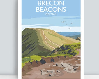 Brecon Beacons, Pen-Y-Fan, England. HAND SIGNED Art Print/Poster.
