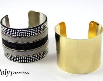 1 support (width 50mm) brass cuff bracelet