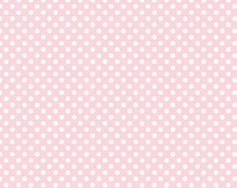 Half Yard Le Creme Dots - Small Cream Dots in Baby Pink - Cotton Quilt Fabric - C610-75 - RBD Designers for Riley Blake Designs (W3230)