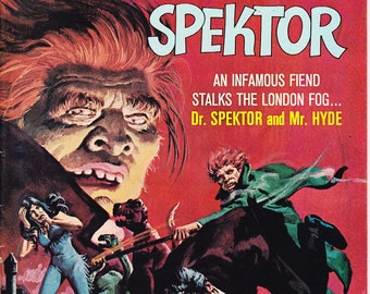 Halloween Horror Comic, The Occult Files of Doctor Spektor 5. Jekyll and Hyde, Scary Monster art. 1973 Gold Key in VF/NM (9.0)