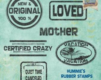 Digital Scrapbooking Rubber Stamps