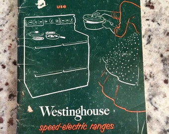 1954 Westinghouse Speed-Electric Range Instruction Booklet